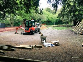 Work On Our New Sensory Playground Begins